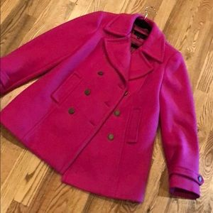 Talbots pink winter coat